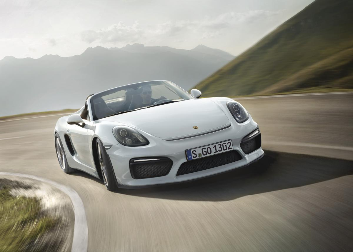 World Premiere of the Boxster Spyder