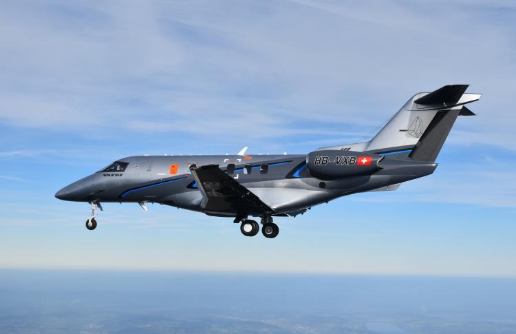 The second PC-24 prototype is airborne