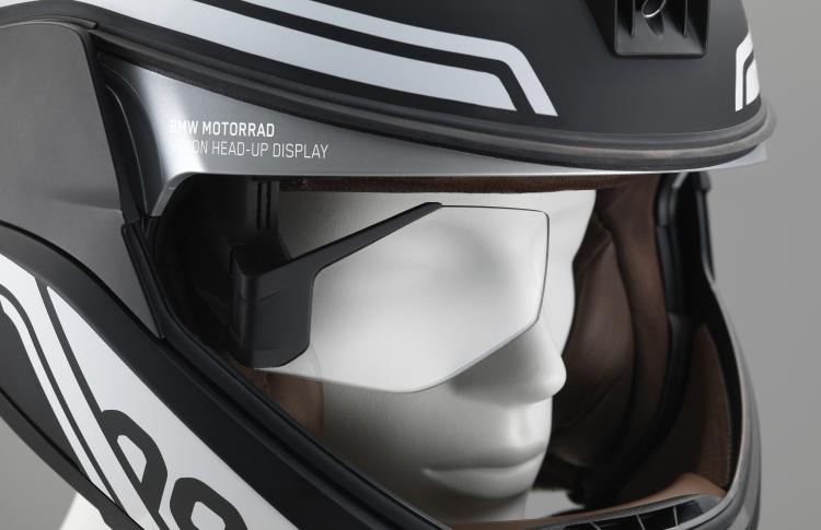 BMW Motorrad presents concepts for motorcycle laser light and helmet with head-up display.