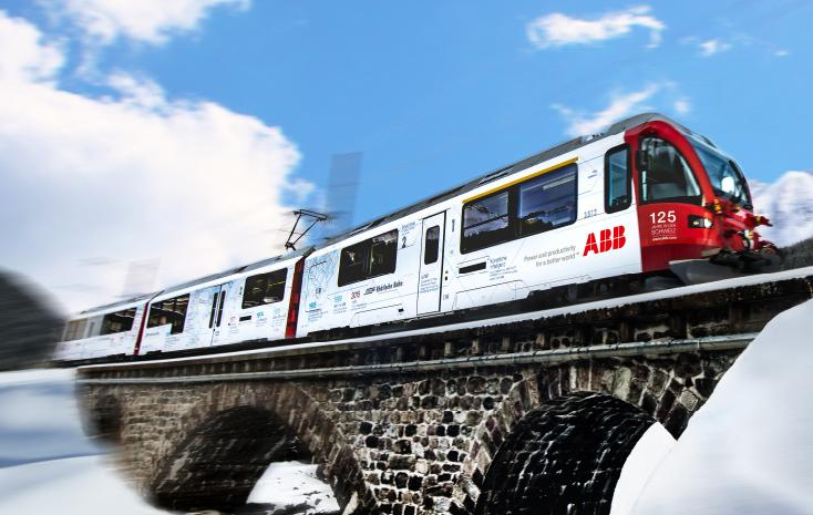 ABB launches its anniversary year with an ABB-branded Allegra train
