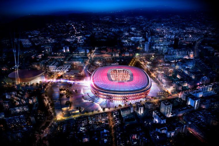Nikken Sekkei Team proposal wins international design competition for FC Barcelona's home stadium design