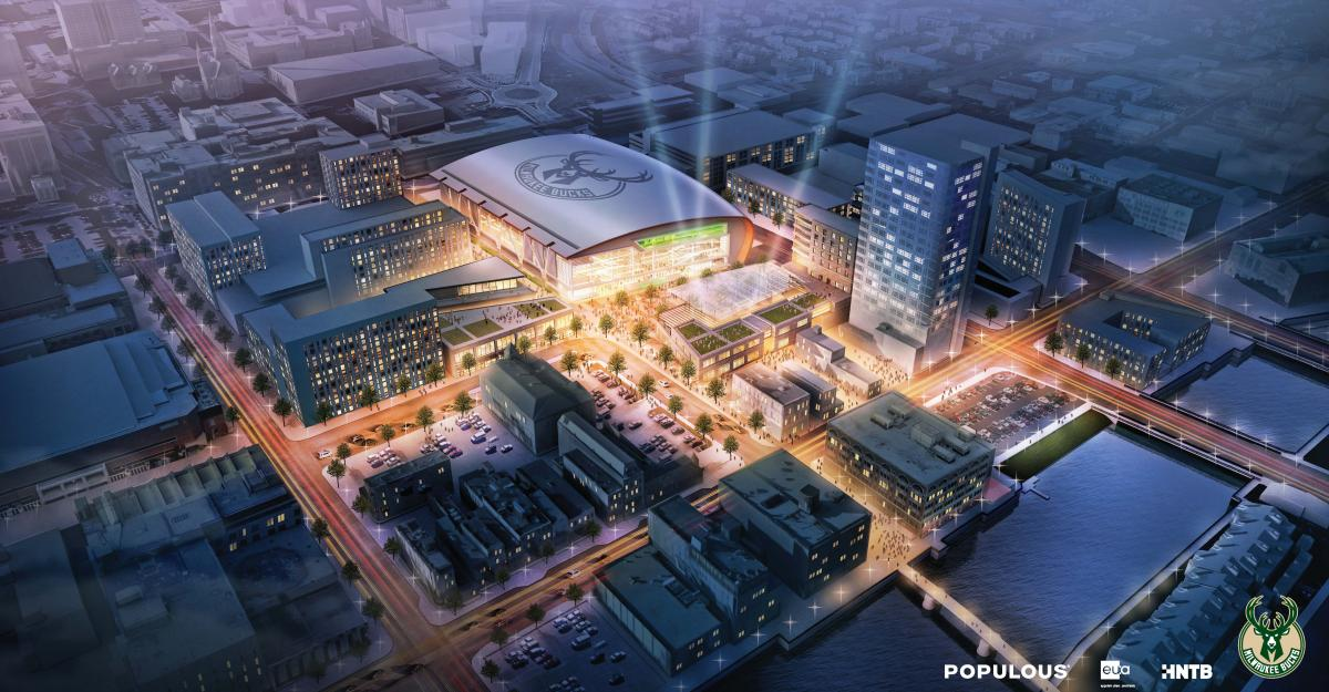 Milwaukee Bucks release New arena renderings